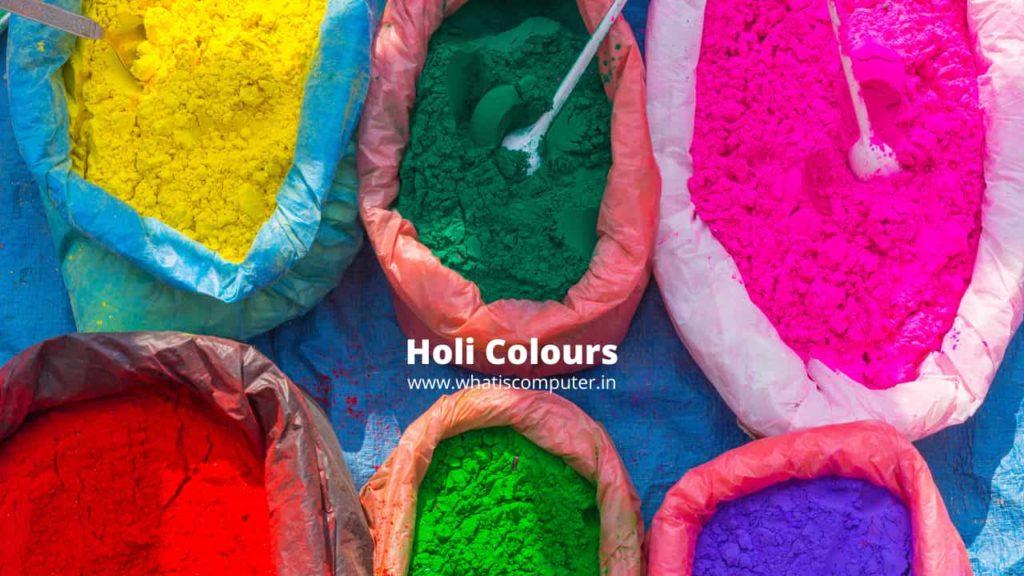 Holi Festival Colours