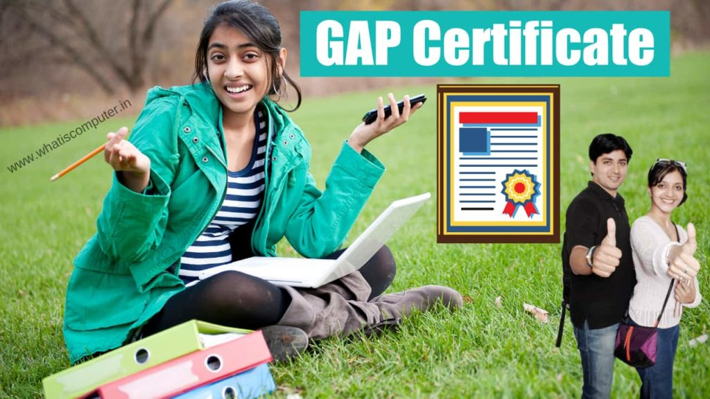 what is GAP Certificate.